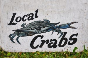 Local Crabs Sign